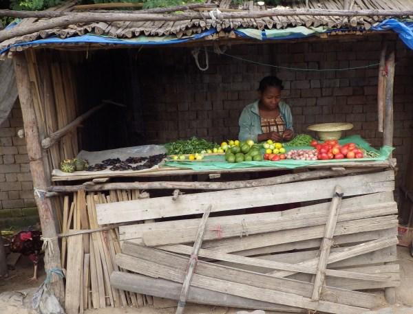 マダガスカルの露天商